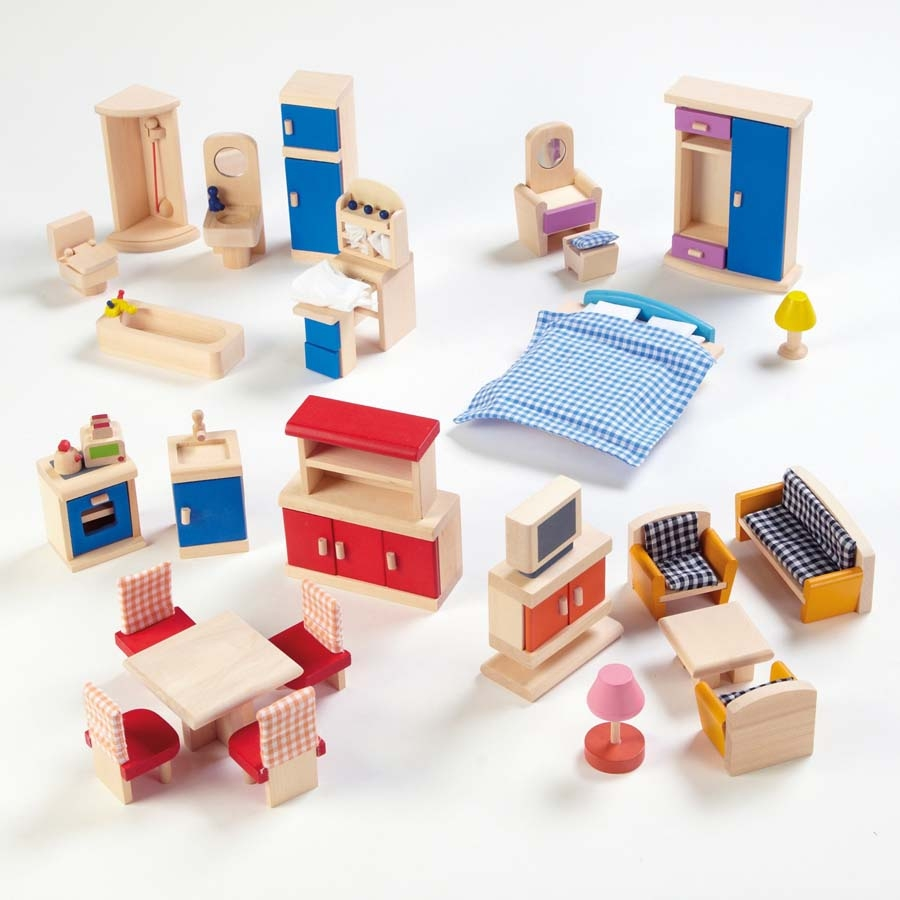 Dolls Furniture Set Small World Dolls House Rooms Furniture Set TTS