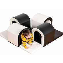 Black and White Soft Play Tunnel  medium
