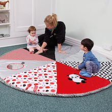 Black and White Pop Up Play Mat  medium