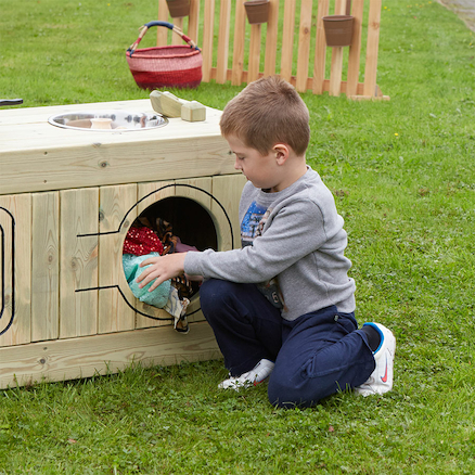 Outdoor Wooden Role Play Kitchen Centre  large