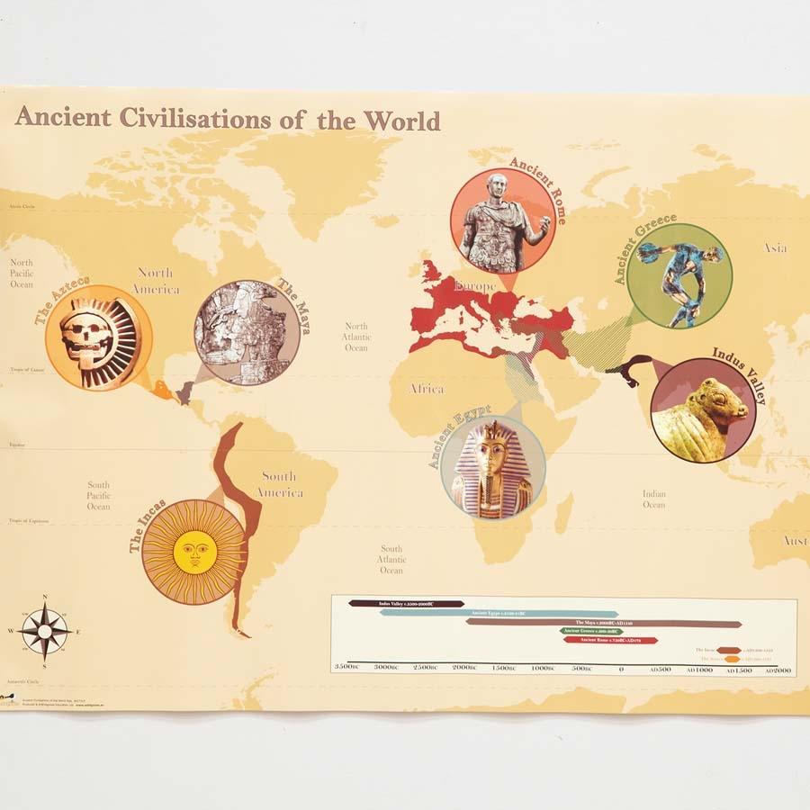World Map Ancient Civilizations.Buy Ancient Civilisation Map A1 Tts International