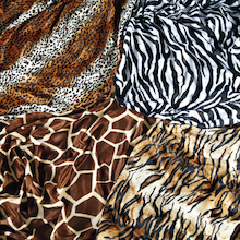 Animal Print Fabric 4pk  medium