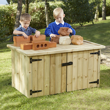 Outdoor Double Sided Storage Table  medium