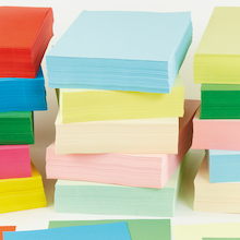 Assorted A4 Coloured Copier Paper 80gsm 5pk  medium