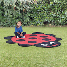 Back to Nature Outdoor Ladybird Shaped Mat  medium
