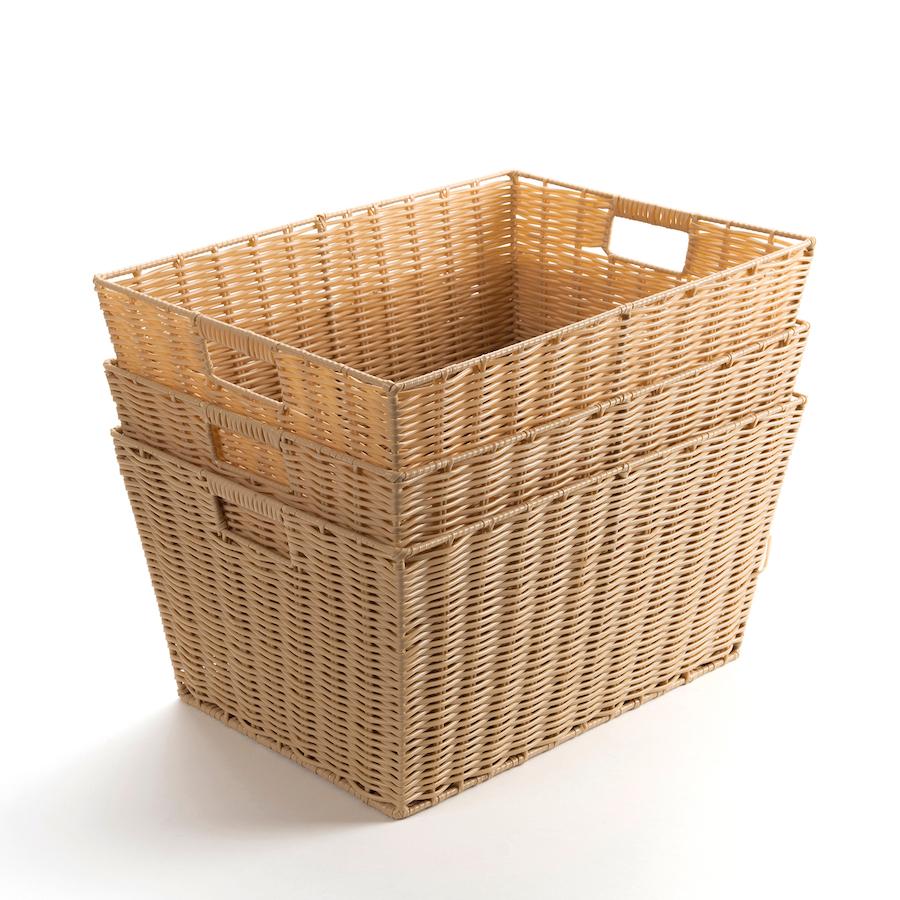 Faux Wicker Plastic Baskets Small