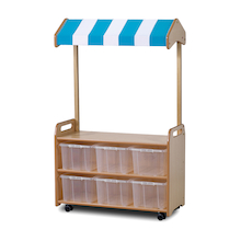 PlayScapes Mobile Shelf Unit with Canopy  medium