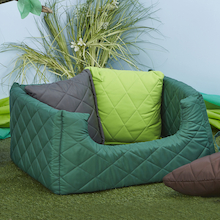 Outdoor Quilted Cushion Pod  medium
