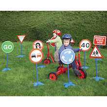 Outdoor Road Safety Traffic Signs Set 10pk  medium