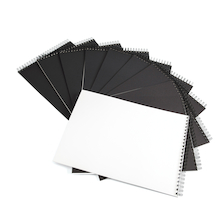 Pisces Spiral Sketchbooks Black A3 120gsm  medium