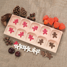 Wooden Ten Frame Counting Tray  medium