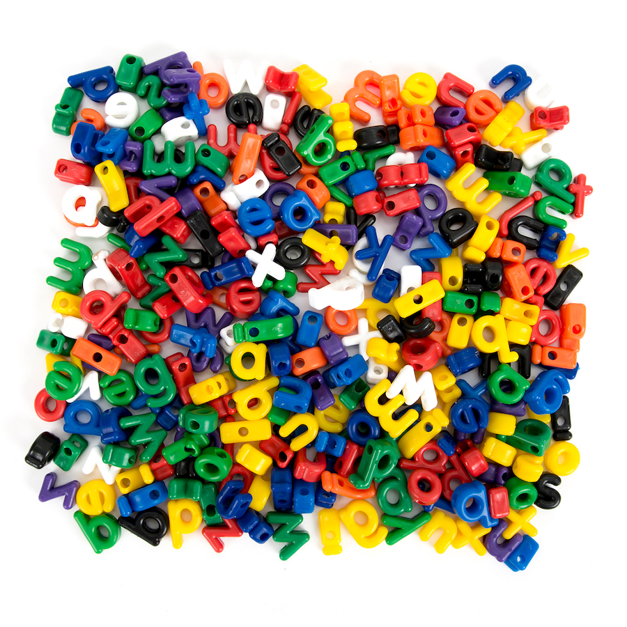 Buy Threading And Lacing Alphabet Letters 175pcs Tts
