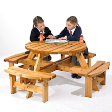 Round Junior Height Picnic Bench  medium