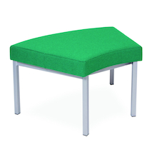Modular Upholstered Curved Stool  medium