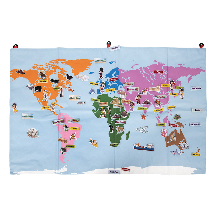 Buy fabric world map tts international giant fabric world map with 196 motifs large tts school resources online shop gumiabroncs Image collections