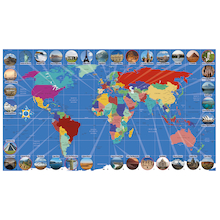 World Landmarks Map Signboards  medium
