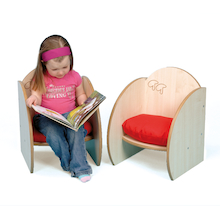 Mini Wooden Chairs with Cushions 2pk  medium