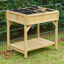 Herb Garden Natural Wood H80 x W78 x D58cm  medium