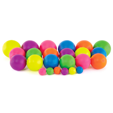 Neon Coated Foam Balls  medium