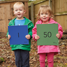 Outdoor Number Tiles 1-50  medium