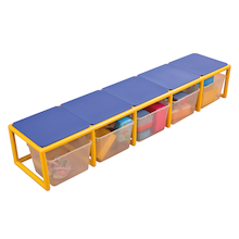 Rainbow Low Bench with Storage  medium