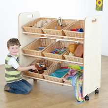 Continuous Provision Tilted Wicker Basket Rack  medium