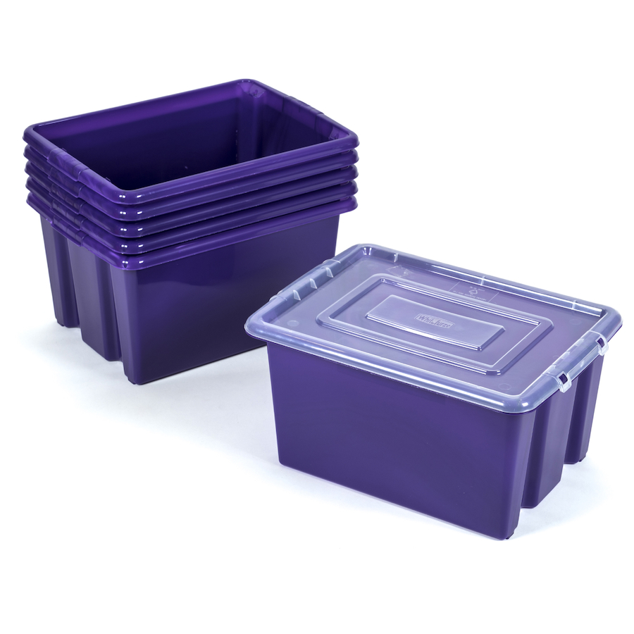 Beau ... Stack And Store Plastic Storage Boxes Small ...