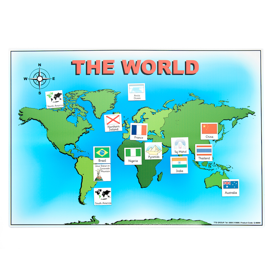 Buy magnetic world map and 50 illustrated pieces a3 tts international magnetic world map and 50 illustrated pieces a3 gumiabroncs Choice Image