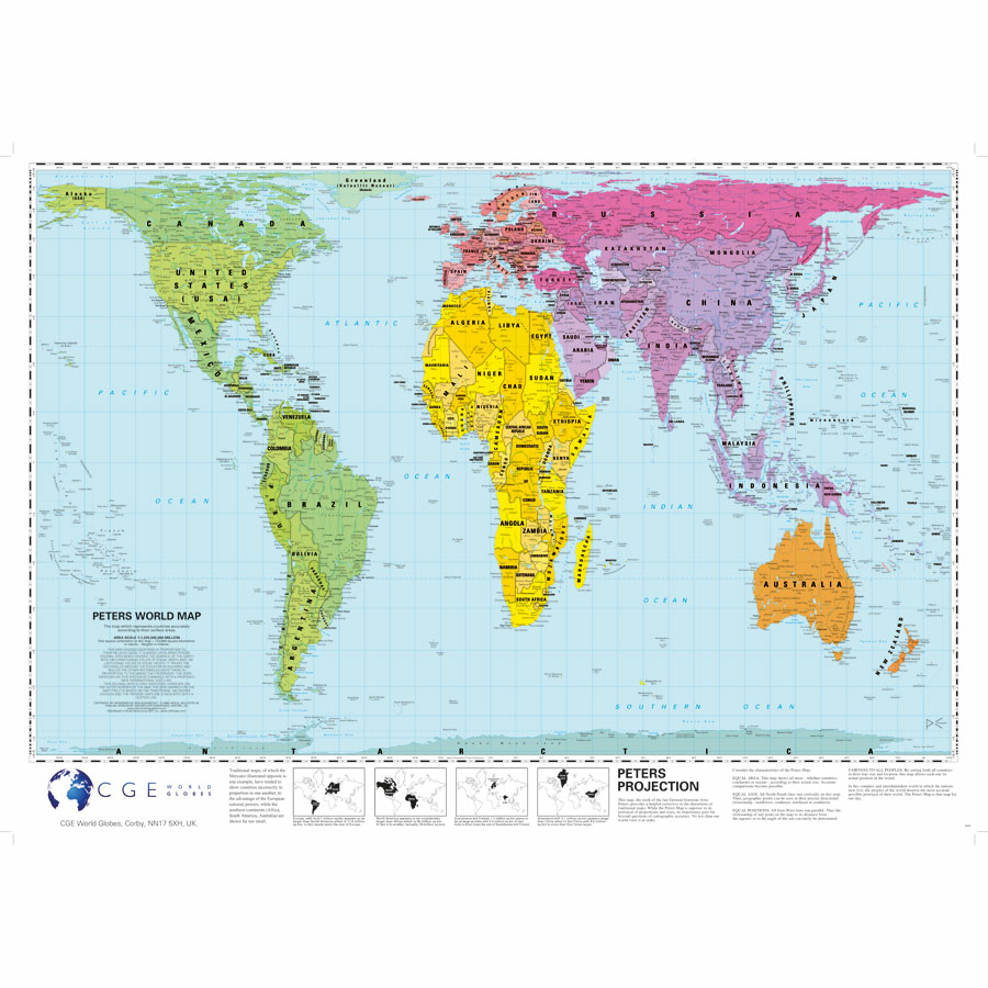 The Peters Projection World Map.Buy Peter S Projection Map A1 Tts International