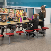 Rectangular 12 Seat Folding Table  medium