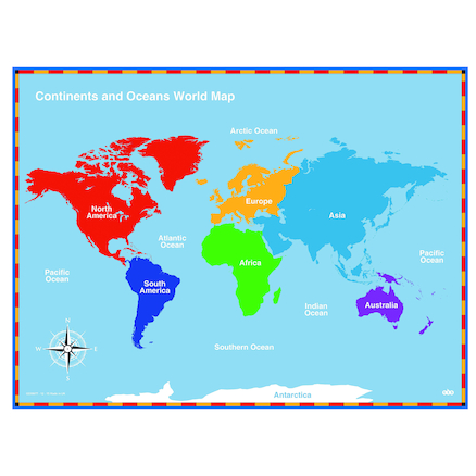 Buy continents and oceans maps tts international continents and oceans maps large gumiabroncs Choice Image