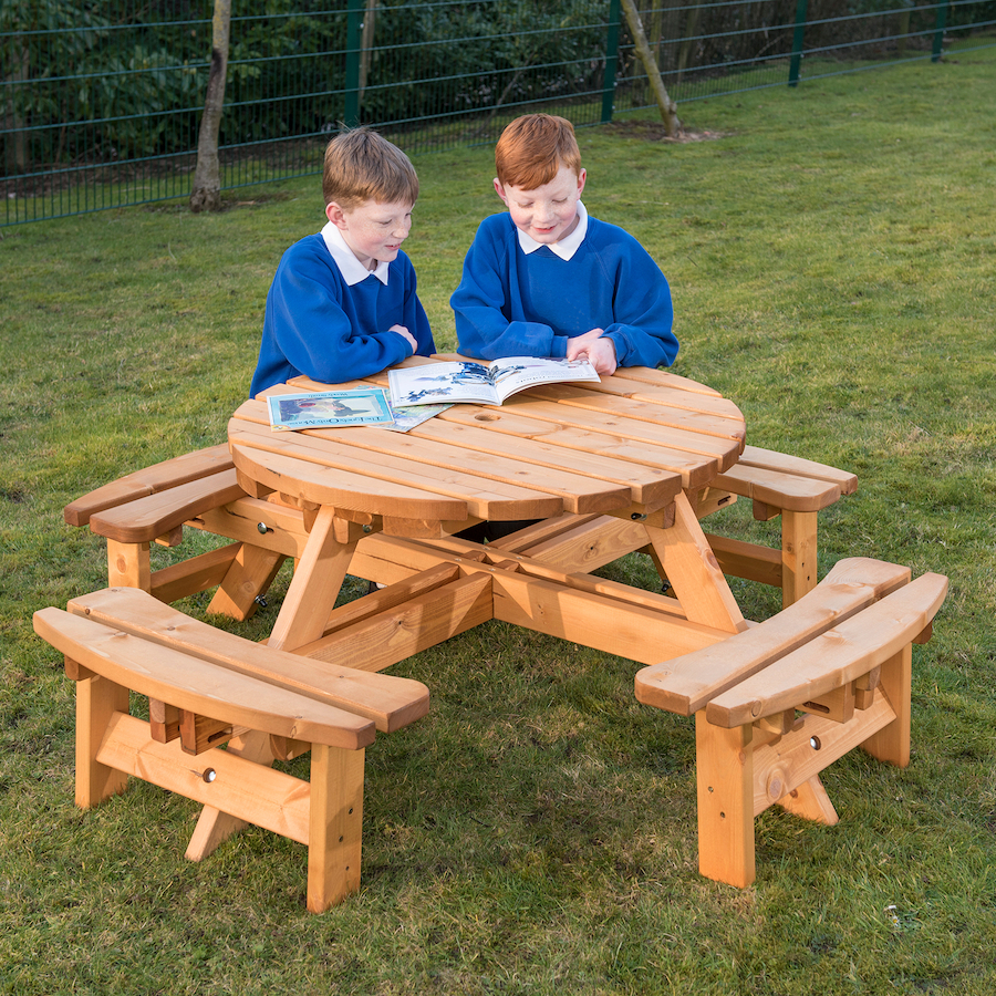 Buy Round Junior Height Picnic Bench TTS International - Small round picnic table