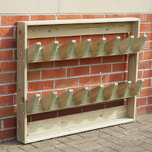 Outdoor Wooden Wellie Wall  medium
