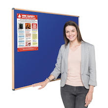 Wood Effect Noticeboard  medium