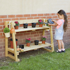 Outdoor Wooden Tiered Shelving Units  small