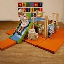 Toddler Wooden Climbing Frame Slide Set  medium