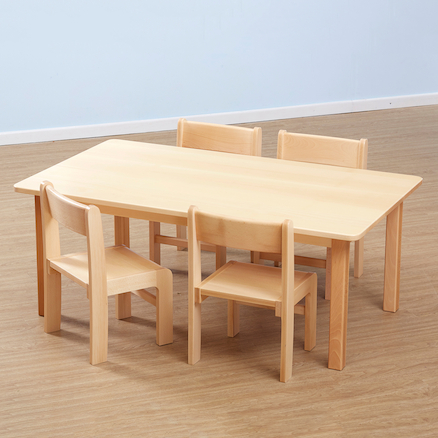 Solid Beech Rectangular Classroom Tables L120cm  large