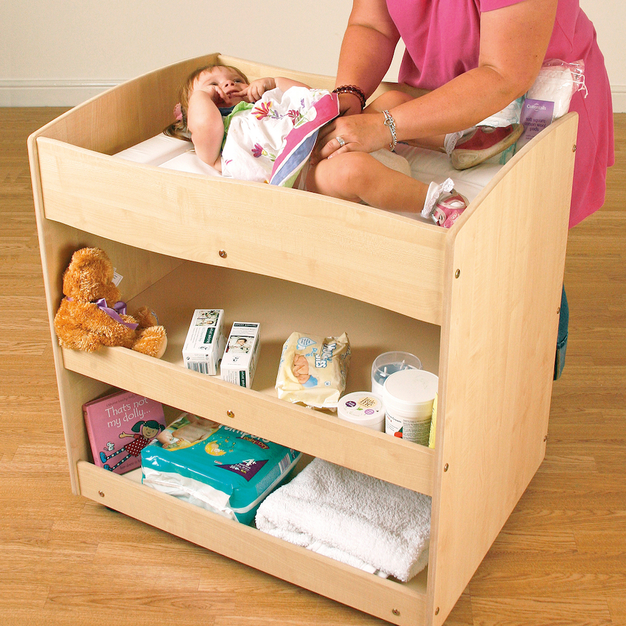 Merveilleux ... Wooden Mobile Baby Changing Unit Small