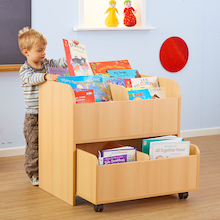 Bookcase Storage Unit with Trolley  medium