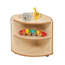 Solway Early Years 2 Shelf Corner Storage Unit  medium