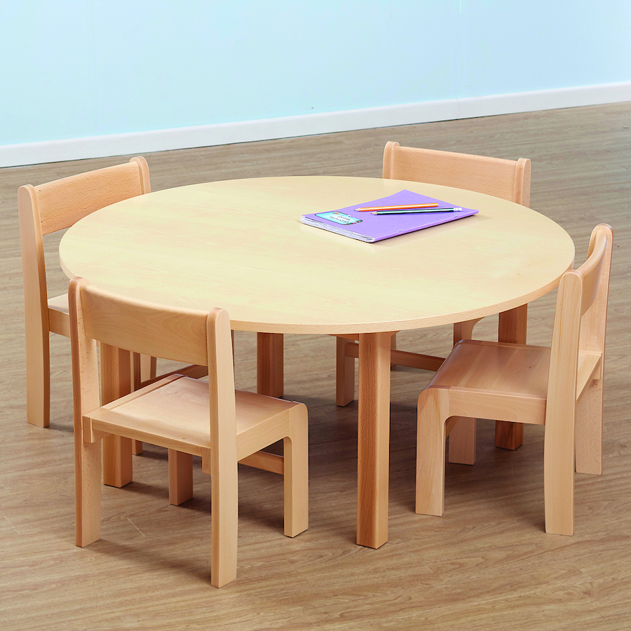 Beech Veneer Circular Table and Chairs Set & Buy Beech Veneer Circular Table and Chairs Set | TTS International