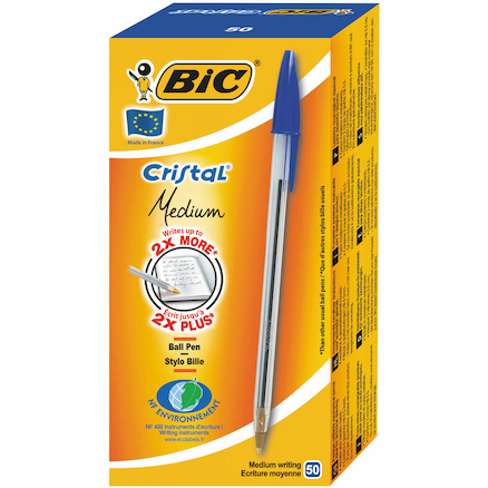 Bic\u00ae Cristal Medium Ballpoint Pen 50pk  large