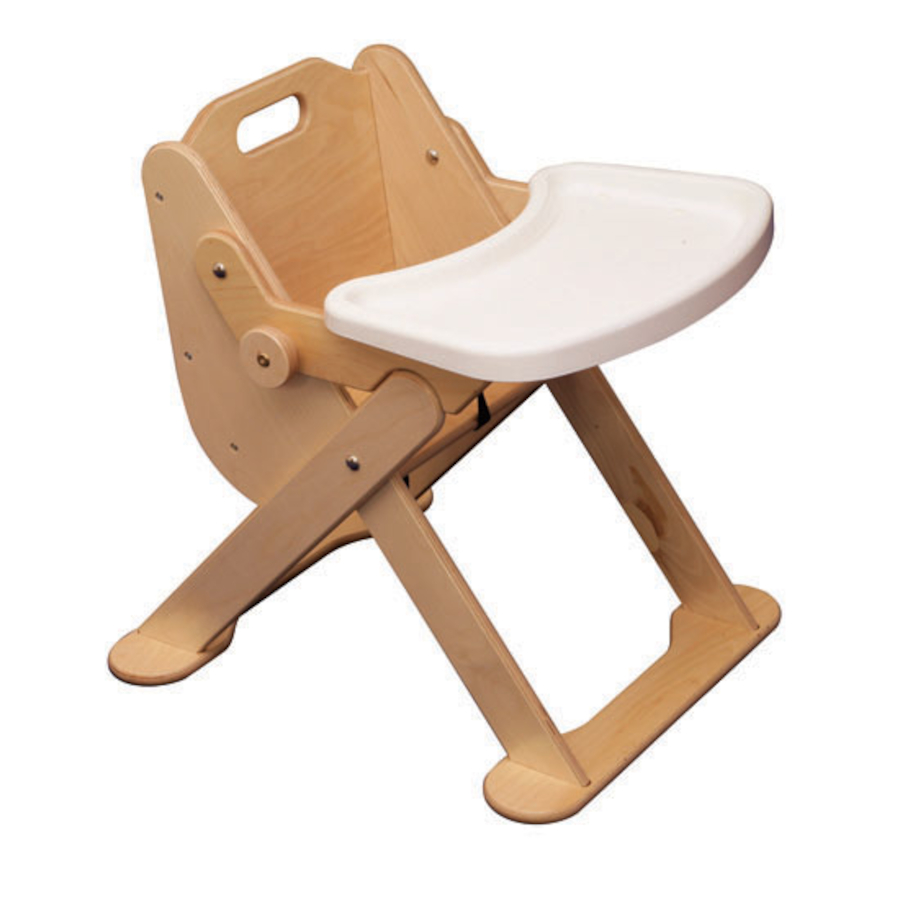 buy low level wooden feeding chair with tray tts international
