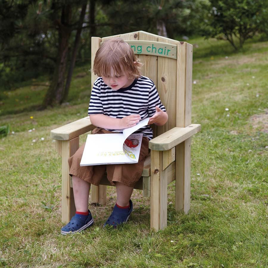 Attirant Outdoor Wooden Childrens Reading Chair Large TTS School Resources Online  Shop