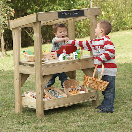 Outdoor Wooden Role Play Shop  large