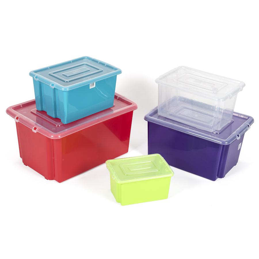 Stack And Store Plastic Storage Boxes