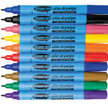 Show-me® Dry Wipe Pens Fine Tip  medium