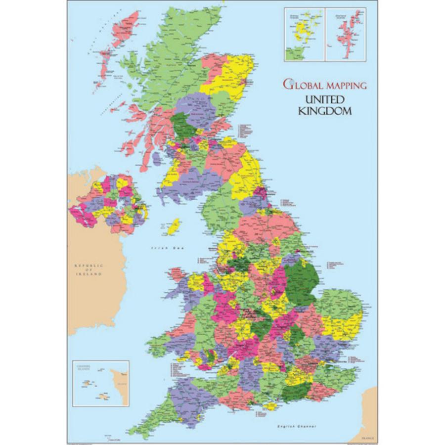 Buy United Kingdom Map Vinyl A TTS International - Large wall map of uk