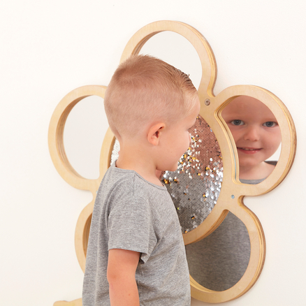 Mark Making Sequin Mirror and Daisy Frames  large