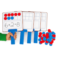 Ten Frame Magnetic Answer Boards - 4pk  medium